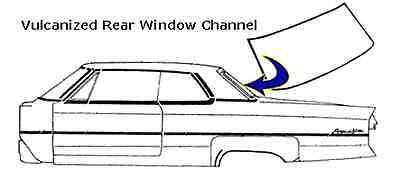 1961 Buick Electra Rear Window Seal / Gasket