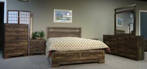 LORD SELKIRK FURNITURE - 697 Series - Rustic Oak - 6PC Queen Bedroom Set