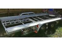 Trailer car transporter twin axle.