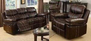SAVE $1300 -- 2pc Reclining Sofa and Chair in a Brown Airehyde-Match Regular Retail $2299 NOW $999