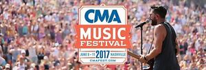 One ticket to 2017 CMA Festival
