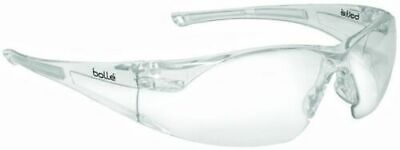 Bolle Rush Safety Glasses With Clear Anti-scratch And Anti-fog Lens 40070