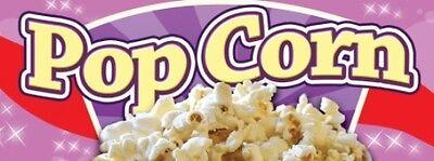 Popcorn Vinyl Banner Sign - 3 X 8