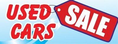 Used Car Sale Vinyl Banner Sign   3 X 8