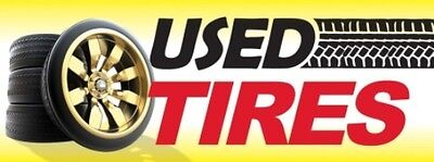 Used Tires Tracks Vinyl Banner Sign - 3 X 8