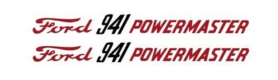 Ford Powermaster 941 Tractor Hood Decal Kit Graphics Stickers Emblem Set Sides