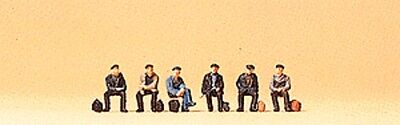 Z scale Preiser SIX SEATED Industrial Workers FIGURES 88533