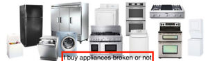 We buy used appliances / working or not