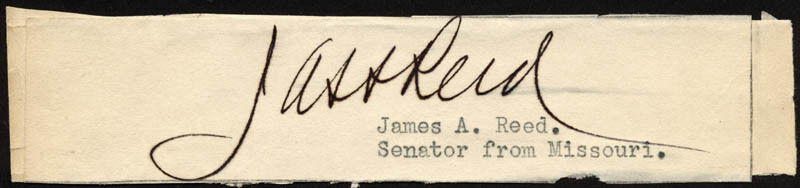 JAMES A. REED - CLIPPED SIGNATURE
