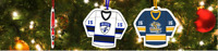 CUSTOM PERSONALIZED HOCKEY AND RINGETTE TREE ORNAMENTS