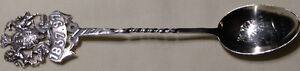 Antique Sterling Silver Souvenir Tea Spoon, Queen Victoria 1837