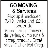 GO Moving and Services