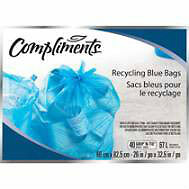 BRAND NEW - Compliments Recycling Blue Bags 66cmx82.5cm 40 bags