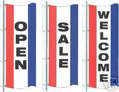 Opensalewelcome 3ftx8ft Vertical Banners Flags Signs - Choose One