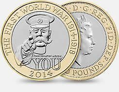 WORLD WAR 1 'WE NEED YOU' £2 COIN