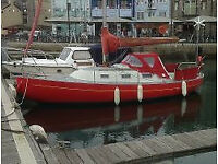 Danish Sailing yacht 25' Spaekhugger. Built by Flipper Scow. 5 Berth
