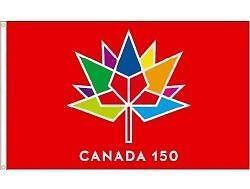 Canada 150th Years Anniversary Flag, T-shirt, Banner, Cap, Bracelet, Lanyard, Patch, Shot Glass, Sticker