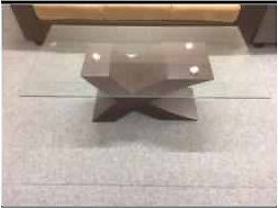 Modern Coffee table brown base (brand new)