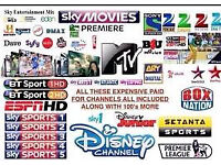 MAG BOX 250/256/ 254 WITH 12 MONTH LINE GIFT SKYBOX CABLE BOX COMBO
