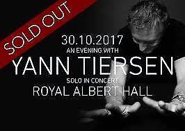 2 Yann Tiersen Tickets - 30 October 2017 - Royal Albert Hall London