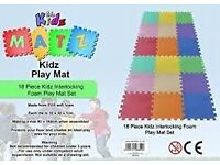 Interlocking baby foam mat set