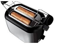 New Hotpoint TT22MDXB0L 2-Slice Toaster Brushed Stainless Steel Was: £49.99