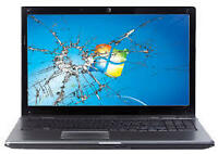 Laptop Écran Cassé Remplacement Broken screen Replacement