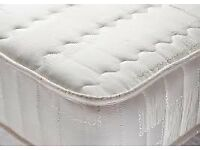 Brand New Queensize Small Double 3/4 4ft Quilted Comfort Spring Mattress FREE delivery