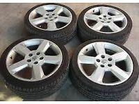 vauxhall corsa ,mariva , zafira , sri alloys with tires 5 stud