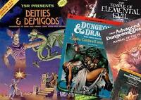 Dungeons & Dragons books (OD&D, AD&D, 2E)