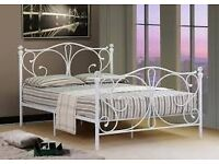 White Metal Double Bed Frame (no mattress) £30