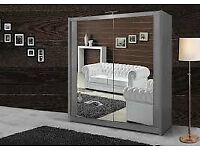 BRANDED FURNITURE-BRAND NEW BERLIN 2&3 SLIDING DOORS WARDROBE IN 5 SIZES & IN MULTI COLORS-ORDER NOW