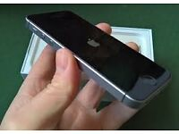 Iphone SE 16gb mint condition with protector case in the space grey and black limited edition.