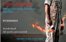 Painter and Decorator. Handyman. Fencing. North East Sunderland. 40 years of Experience