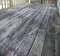 RE-USEABLE DECKING WOOD