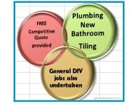 All Plumbing 'Bathroom Installation' Tiling' Property Maintenance 'Decorating Services'