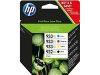 HP 932 / 933 XL Black & Colour Ink Cartridge - (unopened & in date)