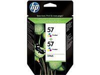 Hewlett Packard Printer Inks HP 56 Black and HP 57 Tri-colour