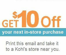 2 (two) $10 off $10 Kohls coupons  Exp 05/25/2013~~Fast Shipping~~
