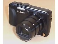 Panasonic Lumix TZ40 camera for sale with memory card and charger and original box