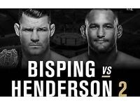 2 TICKETS FOR UFC 204 BISPING vs HENDERSON