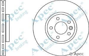 Apec Braking OE Quality Replacement Single Brake Disc Disk - DSK2868