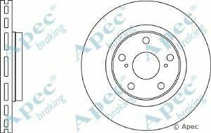 Apec Braking OE Quality Replacement Single Brake Disc Disk - DSK2654