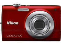 NIKON COOLPIX S2600 DIGITAL CAMERA 14 MP SLIM BODY RED AS NEW