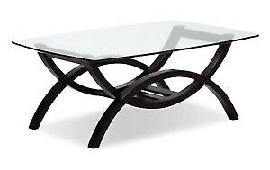 Glass coffee table and end table - MUST GO!!