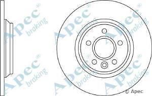 Apec Braking OE Quality Replacement Single Brake Disc Disk - DSK2621