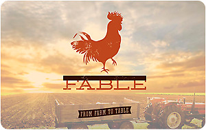 Four course brunch for two at Fable Kitchen on october 21 2018