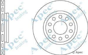 Apec Braking OE Quality Replacement Single Brake Disc Disk - DSK2519