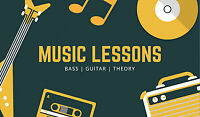 Music Lessons - Bass, Guitar, Theory