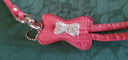 pink leather harness for small - medium dog adjustable. Capalaba West Brisbane South East Preview